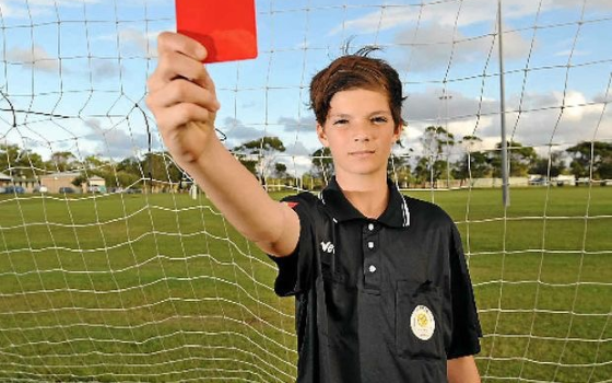 Young referee